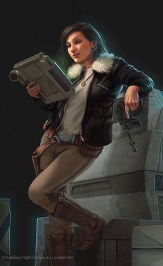 Star Wars: EotE - Mirax Terrik-Horn by Anthony Foti