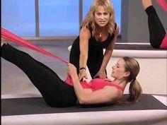 SHAPE magazine Workout Videos: Pilates Core Strengthening w/ Elastic Band Pilates Body, Pilates Workout, Pilates Mat, Yoga Fitness, Fitness Tips, Windsor Pilates, Sup Yoga, Sweat It Out, Fit Board Workouts