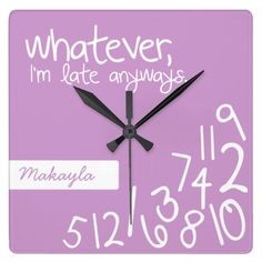>>>Smart Deals for          	Lavender - whatever, I'm late anyways Clocks           	Lavender - whatever, I'm late anyways Clocks so please read the important details before your purchasing anyway here is the best buyReview          	Lavender - whatever, I'm late anyways Clocks tod...Cleck Hot Deals >>> http://www.zazzle.com/lavender_whatever_im_late_anyways_clocks-256908606194984614?rf=238627982471231924&zbar=1&tc=terrest