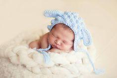 Newborn photo prop. Lamb photo prop.  Crochet blue lamb.