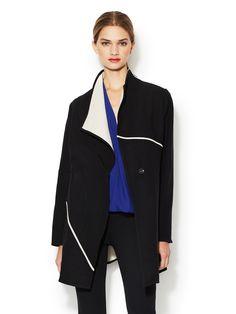 Abbey Piped Coat by Zero + Maria Cornejo