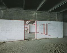 "Felice Varini // ""Port d'Austerliz, no 2"", 1985 #anamorphic"