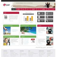 Intranet Design Ideas acca intranet homepage quick links screenshot Sharepoint Intranet Design Example