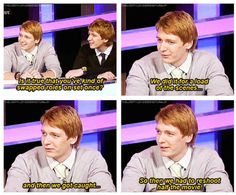 James and Oliver Phelps were pretty much perfectly cast.