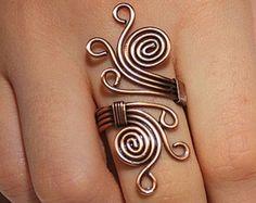 Wire Wrapped Jewelry Handmade by BeyhanAkman Wire Jewelry Designs, Handmade Wire Jewelry, Jewelry Patterns, Copper Jewelry, Jewelry Crafts, Copper Wire, Handmade Copper, Wire Wrapped Earrings, Wire Earrings