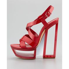 Casadei Cutout Platform Sandal, Cherry (39.815 RUB) ❤ liked on Polyvore featuring shoes, sandals, cutout sandals, high heel platform shoes, high heel platform sandals, buckled platform sandals and high heel sandals