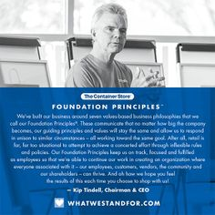 Read all about our Foundation Principles from Kip!