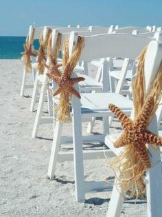 Beach wedding ceremony flowers, beach wedding décor, beach wedding flower arrangement, starfish, add pic source on comment and we will update it.