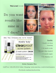 Seven Days CAN change your life. As a Mary Kay beauty consultant I can help you, please let me know what you would like or need. www.marykay.com/KathleenJohnson  www.facebook.com/KathysDaySpa