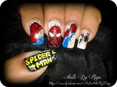 spider -man nail art 1 by priyaa - Nail Art Gallery nailartgallery.nailsmag.com by Nails Magazine www.nailsmag.com #nailart