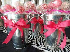 Bridal shower cake pops as party favors