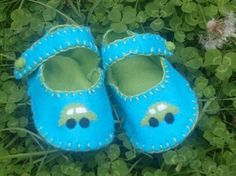 Adorable Boys Blue Car Baby Shoes by WithHugsandKisses on Etsy, $18.99