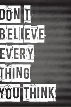 Don't believe everything you think #recoveryninja #recoverywarriors