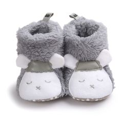 winter baby shoes boots infant Soft hairy warm shoes toddler girl boy Cartoon Dairy cow style Soft Soled newborn first walkers