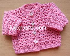fjc147-Preemie Cardigan Baby Crochet Pattern | Craftsy Baby Knitting Patterns, Crochet Baby Cardigan Free Pattern, Crochet Baby Jacket, Crochet Baby Sweaters, Baby Sweater Patterns, Baby Clothes Patterns, Crochet Baby Hats, Baby Patterns, Vest Pattern