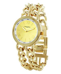 Gold Chain Link Bracelet Watch ~ SAVE 80% today