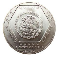 1994 5 oz Mexican #Silver 10,000 Pesos Piramide Del Castillo http://www.gainesvillecoins.com/