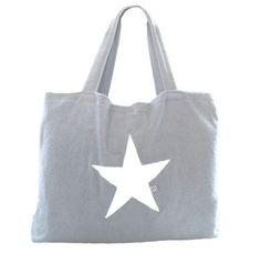 Strandtasche Silber mit Stern - BYRH Beach Bags