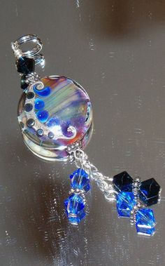 Handmade Lampwork Glass Tab Pendant by nycfashionconnection, $20.00