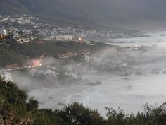 Camps Bay, Cape Town, South Africa - Unreal cloud cover real low, just around sunset. Amazing Pics, Camps, Cape Town, South Africa, Bucket, Clouds, River, Spaces, Outdoor