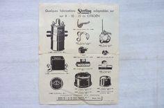 STERLING ADAPTABLES SUR CITROEN 8-10-15 CV  1933  REF 01 in Collections, Objets publicitaires, Publicités papier, Autos, tracteurs   eBay