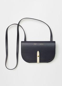 Strap Clutch on Strap in Palmelato & Sleek Calfskin - Céline