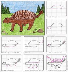 Draw an Ankylosaurus