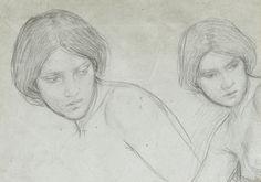 John William Waterhouse  Study of nymphs. British, 1849-1917