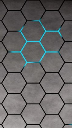 3D Blue Shiny Light Honey Comb Pattern Abstract Background #iPhone #7 #wallpaper
