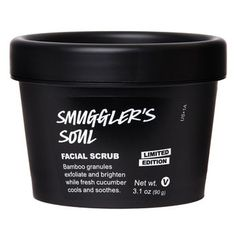 Smuggler's Soul Facial Scrub: Scrub yourself soft and experience the intriguing, smoky notes of sustainably-sourced sandalwood in this limited edition gentle facial scrub.