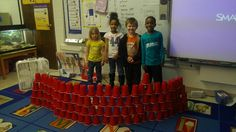 Build a 100 cup structure for the 100th day of school