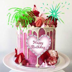 Happy Birthday Wishes Cake, Happy Birthday Video, Happy Birthday Greetings, Birthday Cake, Birthday Clips, Cake Kids, Cards, Bling, Printable