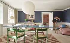 The living room at The Apartment Copenhagen Copenhagen Apartment, Casa Milano, Colorful Apartment, Turbulence Deco, Retail Concepts, Deco Boheme, Bedroom Red, Design Blogs, Home Comforts