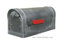 The Floral Cast Leaf Mailbox is a solid cast aluminum post mount mailbox available in 8 colors with an optional newspaper holder. Mounted Mailbox, It Cast, Leaves, Lighting, Outdoor Decor, Silver, Home Decor, Decoration Home, Light Fixtures