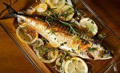 mackerel in lemon Atlantic Mackerel, Fish And Seafood, Frozen, Lemon, Turkey, Meat, Chicken, Recipes, Cape
