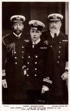 Three generations of British Royals King George V, Edward VII. and Prince of Wales Queen Victoria Facts, Queen Victoria Family, English Royal Family, British Royal Families, Royal Family Of England, Prince Albert, Prince Edward, Prince Harry, Queen Mary