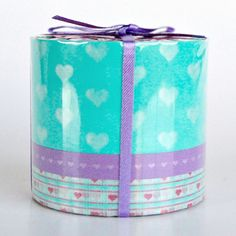 Image of Heart Washi Tape - Mint & Lilac