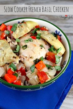 Slow Cooker French Basil Chicken recipe - RecipeGirl.com