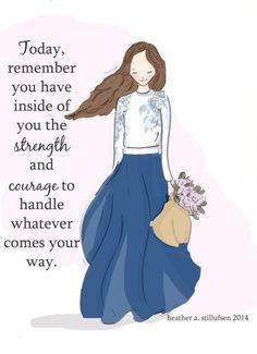 Inspirerende kunst voor vrouwen Quotes door RoseHillDesignStudio