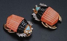 Cartier Paris Scarab Beetle Clips image Clive Kandel Cartier Collection by Clive Kandel, via Flickr