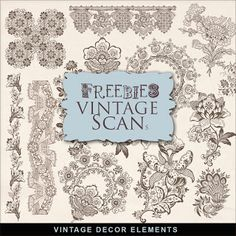 Freebies Kit of Vintage Decor