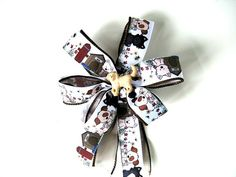 Golden retriever gift bow/ Gift bow for a dog/ Gift for pets and pet lovers/ Treat gift bow/ Pet collar decoration/ Bow for auctions (DC71)