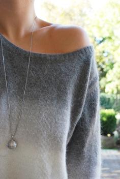pull en angora - pendentif argent