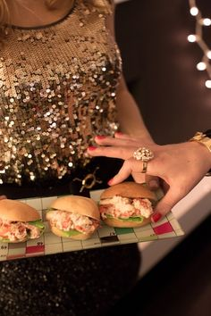 Mini Lobster Rolls | New Year's Eve Party with Kate Spade | Camille Styles