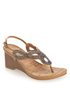 Plus Size Glam Beaded Wedge Sandal | Plus Size Wedges | Avenue