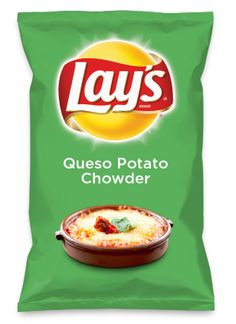 Wouldn't Queso Potato Chowder be yummy as a chip? Lay's Do Us A Flavor is back, and the search is on for the yummiest flavor idea. Create a flavor, choose a chip and you could win $1 million! https://www.dousaflavor.com See Rules.