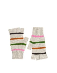 Fingerless Stripe Gloves
