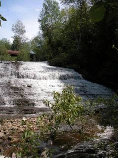 Autrain Falls, 15 miles southwest of Munising,  Alger Co, MI