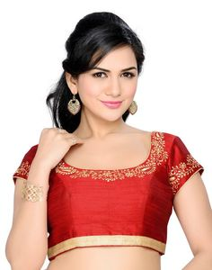 Buy Marron Poly Dupion Twill Dupion Embroidered Padded Blouse online in India at best price. Saree Dress, Saree Blouse, Aerial Costume, Best Online Fashion Stores, Blouse Online, Blouse Designs, Blouses For Women, Clothes, Sari Blouse