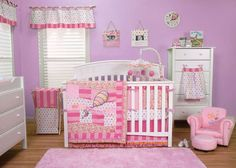 Dr. Seuss Oh! The Places You'll Go! Pink 3 Piece Crib Bedding Set | Luxe Mama Boutique